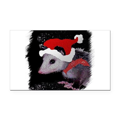 Possum Santa Rectangle Car Magnet