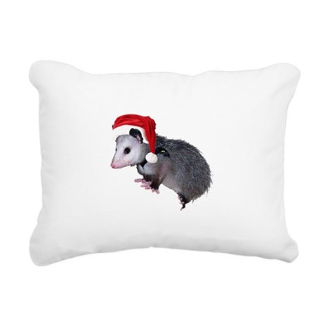 santaspossum.png Rectangular Canvas Pillow