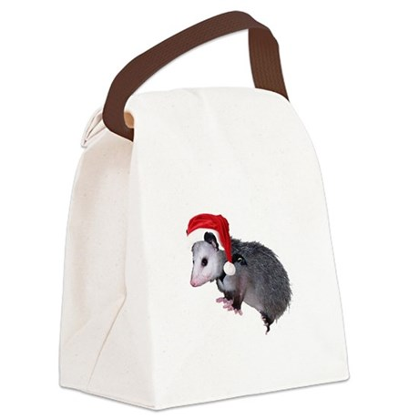 santaspossum.png Canvas Lunch Bag