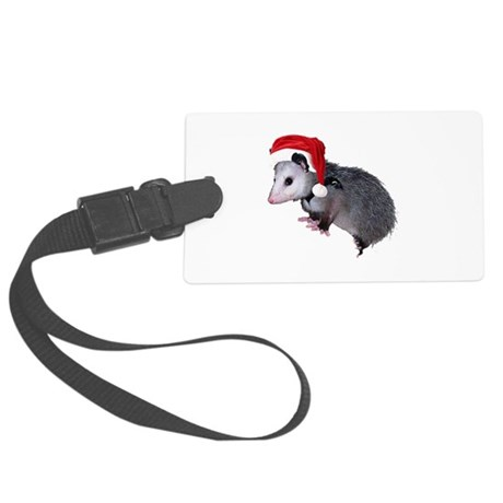 santaspossum.png Large Luggage Tag