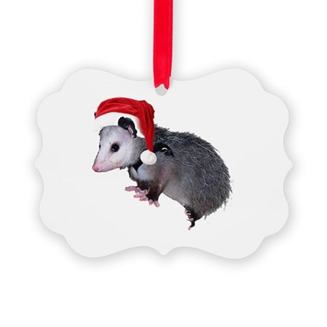 santaspossum.png Picture Ornament