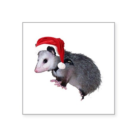 "santaspossum.png Square Sticker 3"" x 3"""