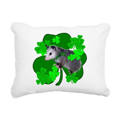 shamrockposs.png Rectangular Canvas Pillow