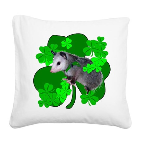 shamrockposs.png Square Canvas Pillow