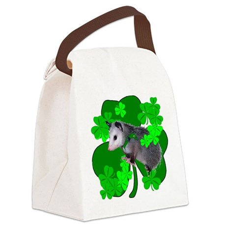 shamrockposs.png Canvas Lunch Bag