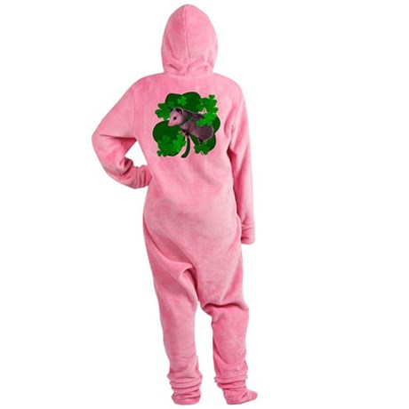 shamrockposs.png Footed Pajamas