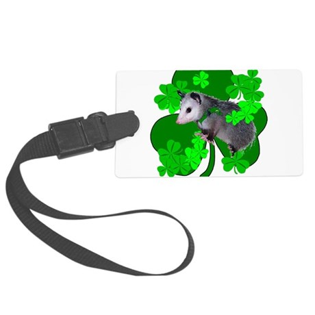 shamrockposs.png Large Luggage Tag