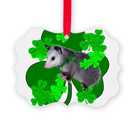 shamrockposs.png Picture Ornament