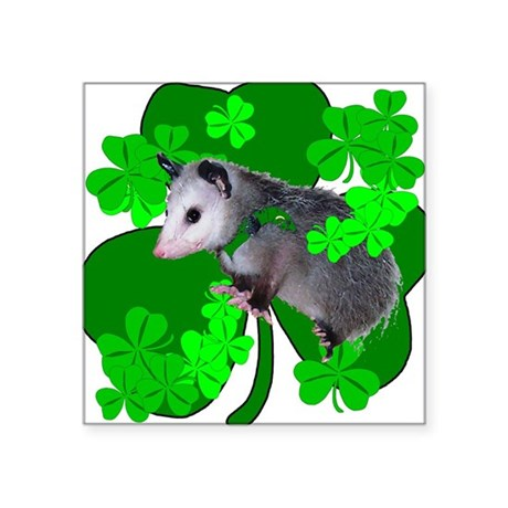 "shamrockposs.png Square Sticker 3"" x 3"""