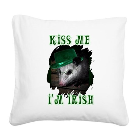 Possum Irish Square Canvas Pillow