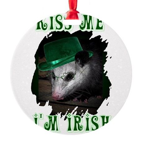 Possum Irish Round Ornament