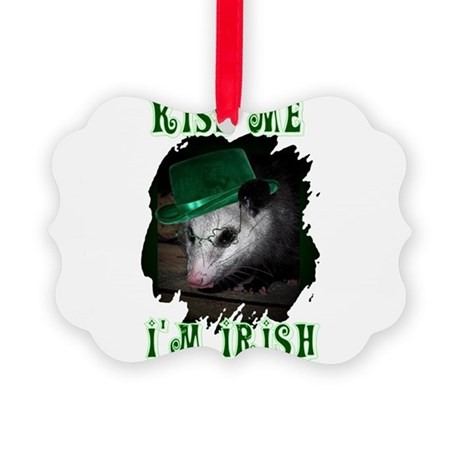Possum Irish Picture Ornament