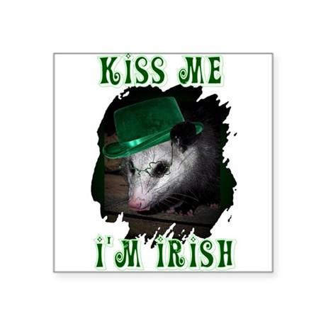Possum Irish Square Sticker 3&quot; x 3&quot;