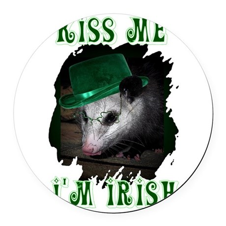 Possum Irish Round Car Magnet