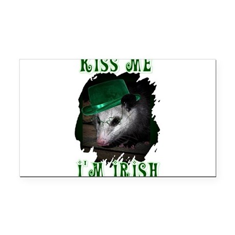 Possum Irish Rectangle Car Magnet