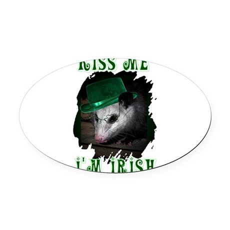 Possum Irish Oval Car Magnet