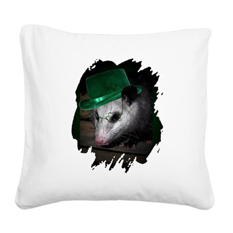 Irish Possum Square Canvas Pillow