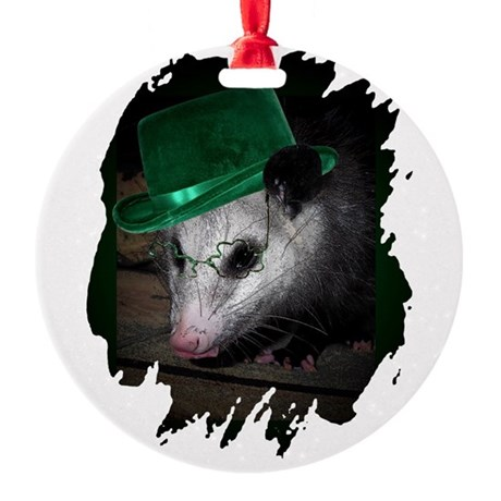 Irish Possum Round Ornament