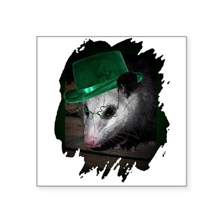 "Irish Possum Square Sticker 3"" x 3"""