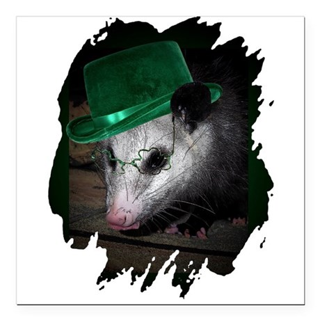 "Irish Possum Square Car Magnet 3"" x 3"""