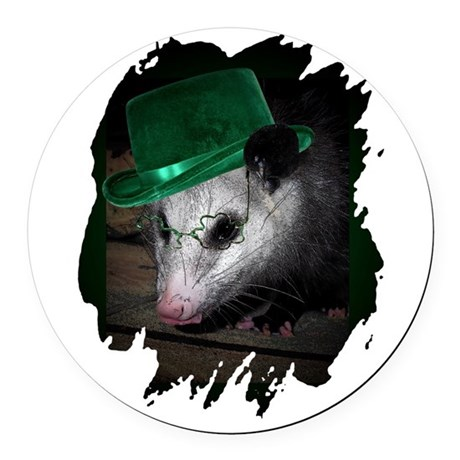 Irish Possum Round Car Magnet