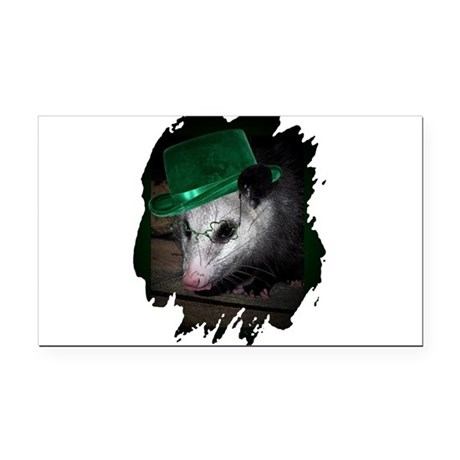 Irish Possum Rectangle Car Magnet
