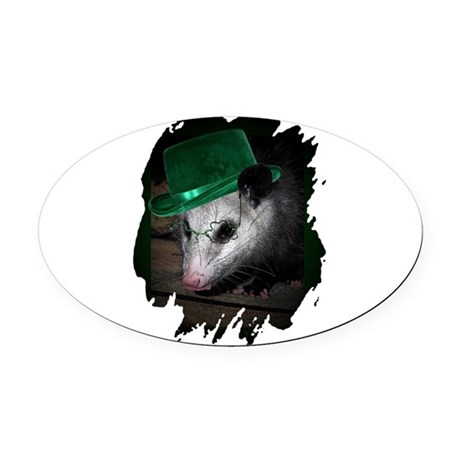 Irish Possum Oval Car Magnet