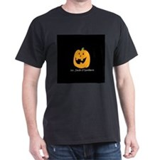 Mr. Jack O'lantern Black T-Shirt