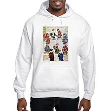 1910s Winter Scarves Hooded Sweatshirt