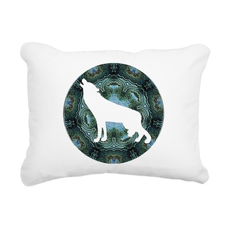 wolf4b.png Rectangular Canvas Pillow