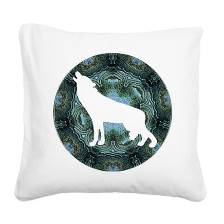 wolf4b.png Square Canvas Pillow