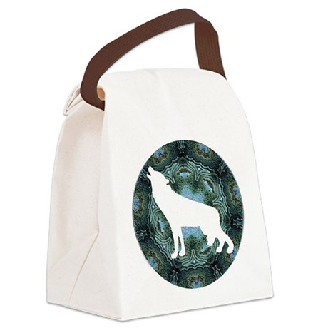wolf4b.png Canvas Lunch Bag