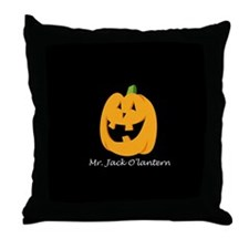 Mr. Jack O'lantern Throw Pillow