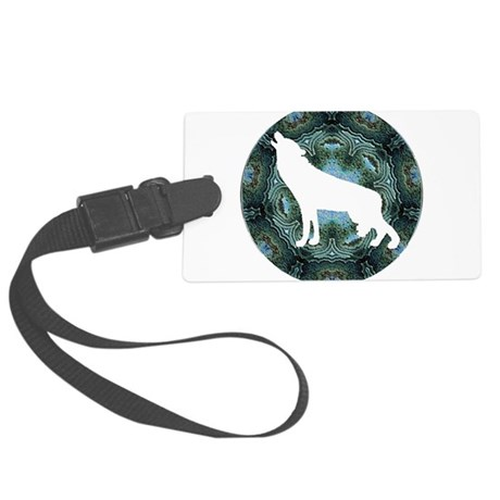 wolf4b.png Large Luggage Tag