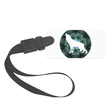 wolf4b.png Small Luggage Tag