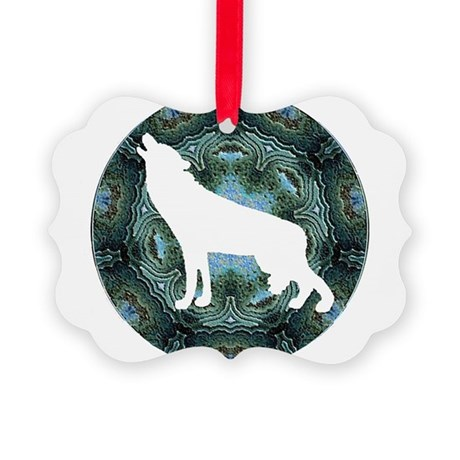 wolf4b.png Picture Ornament