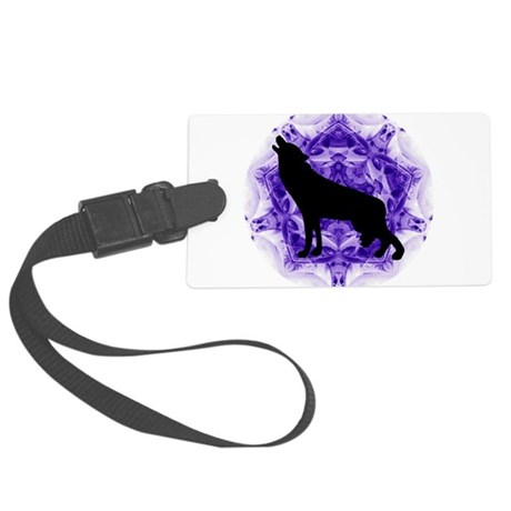 wolfpurp.png Large Luggage Tag