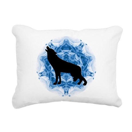 wolfblu.png Rectangular Canvas Pillow