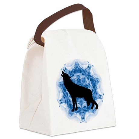 wolfblu.png Canvas Lunch Bag
