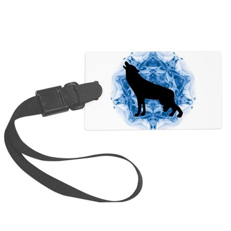 wolfblu.png Large Luggage Tag