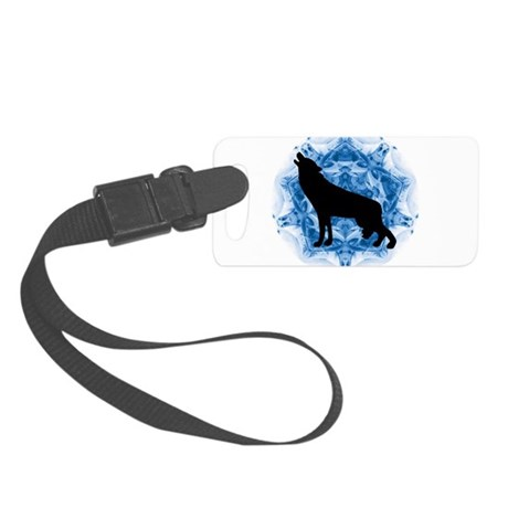 wolfblu.png Small Luggage Tag