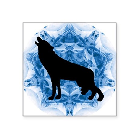 "wolfblu.png Square Sticker 3"" x 3"""