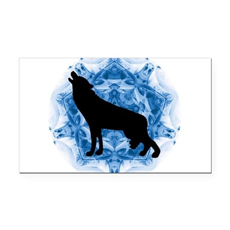 wolfblu.png Rectangle Car Magnet