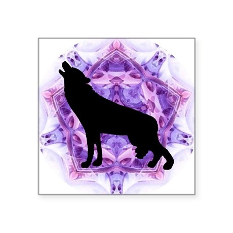 "Howling Wolf Square Sticker 3"" x 3"""