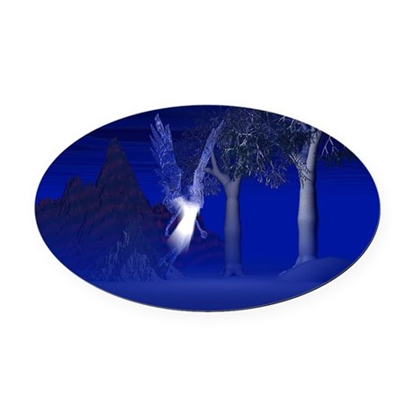 blueangel2lg.jpg Oval Car Magnet
