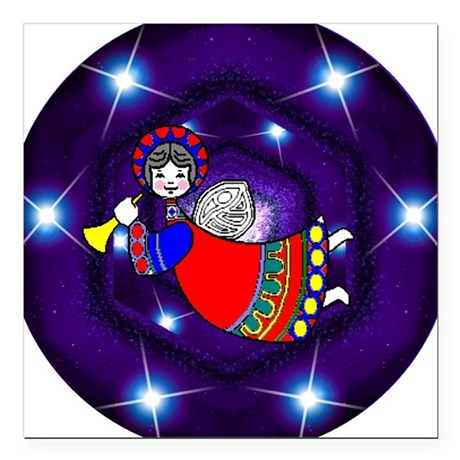 "angel2a.png Square Car Magnet 3"" x 3"""