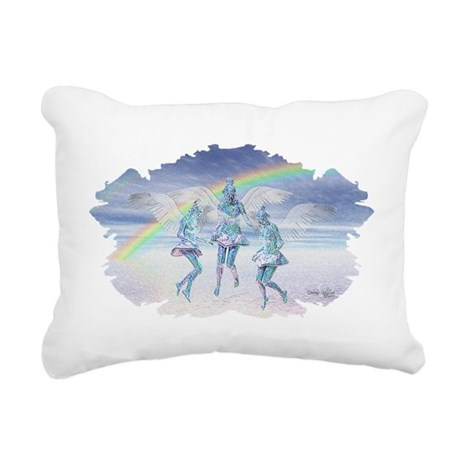 angels50lg.jpg Rectangular Canvas Pillow