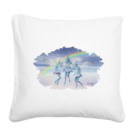 angels50lg.jpg Square Canvas Pillow