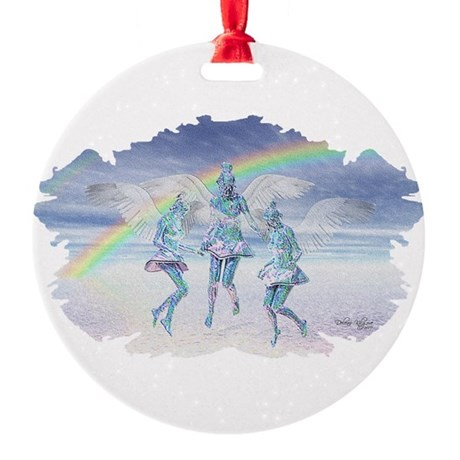 angels50lg.jpg Round Ornament