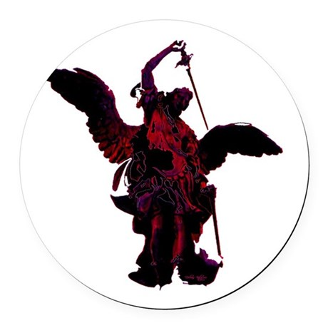 angel1a2blg.png Round Car Magnet